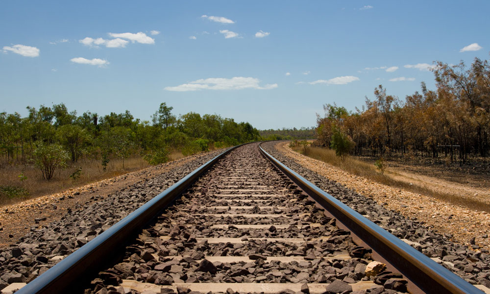 rail tracks stock image