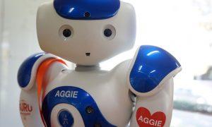 Art-gallery-robot-welcomes-