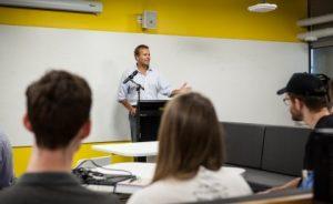 Queensland Chief Entrepreneur Mark Sowerby at UQ Idea Hub launch event