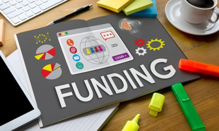 funding colourful graphs stock image