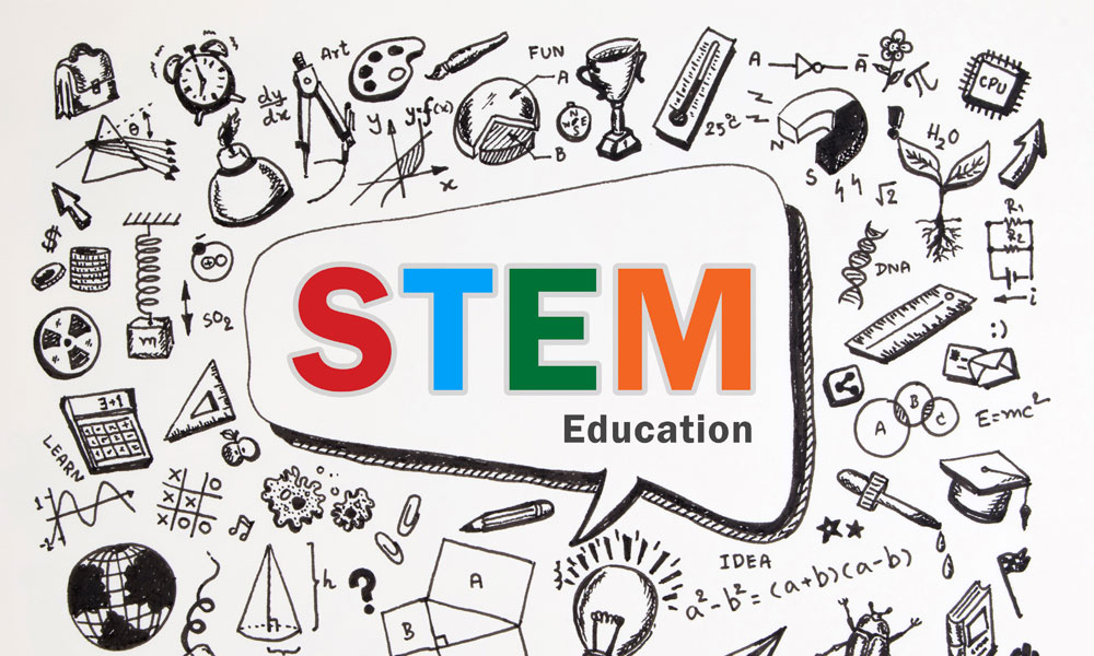 STEM education bubble stock image