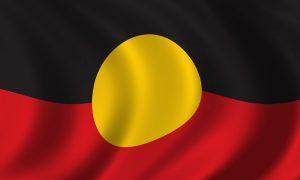 aboriginal flag stock image