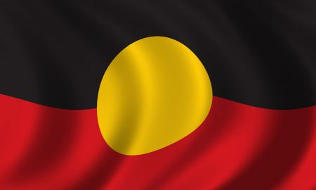 aboriginal flag stock image