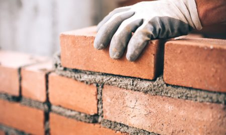 industrial brick construction stock image