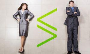 gender equality stock image