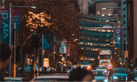 crowded CBD Sydney street