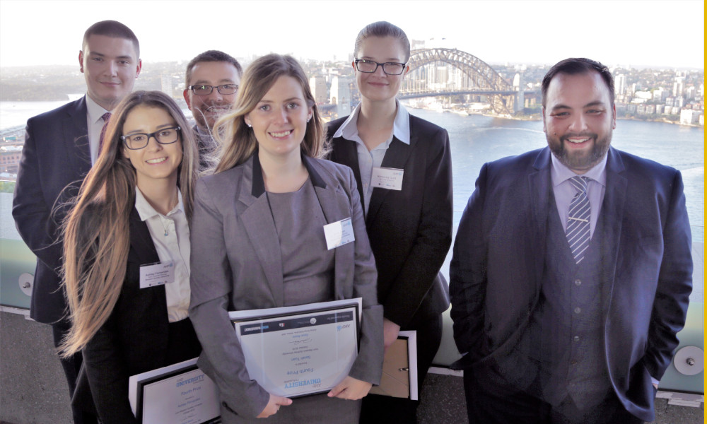 Pictured, above, 2018 AMP University Challenge finalists, from left to right: William Nakos (RMIT), Ashley Fernandes (Western Sydney University), Shane Harris (RMIT), Sarah Toan (Western Sydney University), Kimberley Guild (La Trobe), competition winner Michael Reardon (Deakin University).