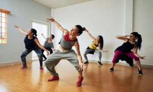 dance studio stock image
