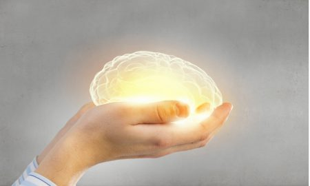 mental health brain in hands