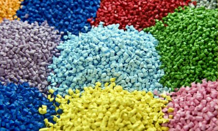 plastic pellets stock image