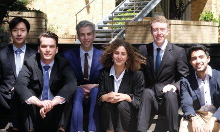 New NCP Scholars (L-R): Jamie Wong, Connor O'Brien, Luke Macaronas, Maxine Silbert, Liam McFadzean-Lodge, Balram Dhillon