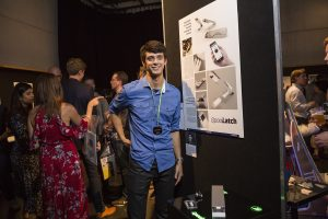 QUT design student Jay Burton at the 2017 Design Festival. Photo: Michael Greves