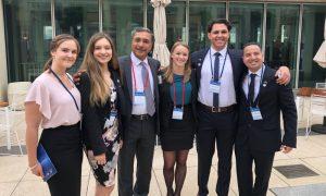 From left: Taylor Meers, Megan Hobson, Vice-Chancellor Professor Deep Saini, Tanaya Allen (NCP Alumni Ambassador 2019), Jai Cornish-Martin, and Timothy Walshe. Photo: supplied