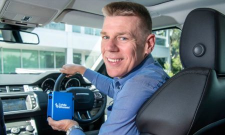 Paul Gray in car