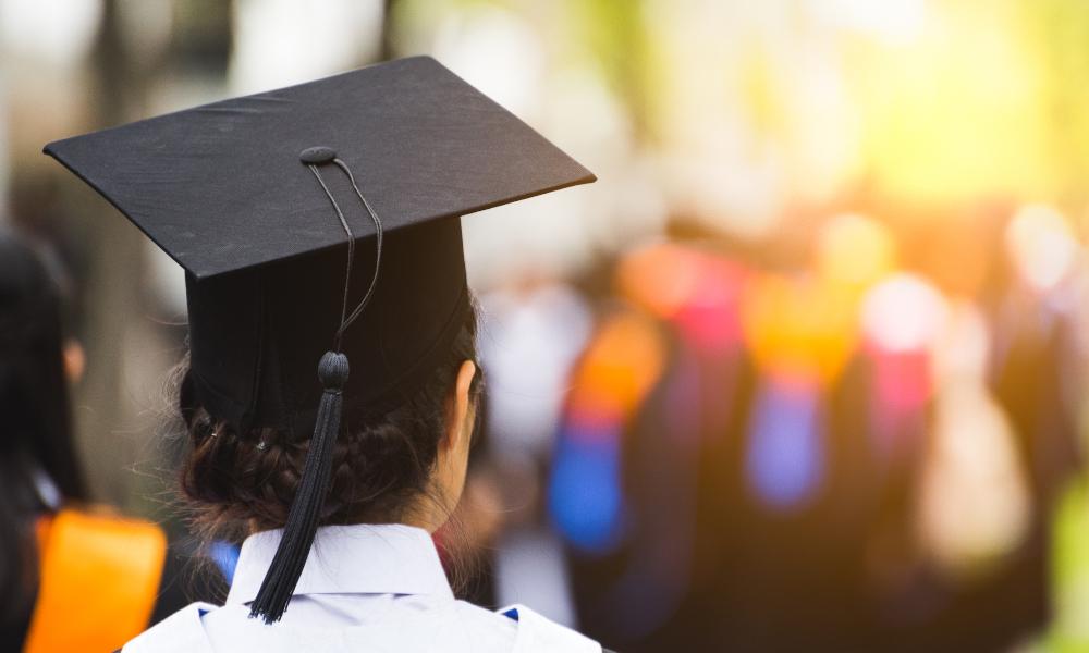 graduation graduate stock image