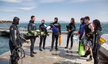 IMAS Introduction to Temperate Marine Biology program on Maria Island , part of the University of Tasmania College Program. Sat 3rd Oct 2015 picture by Peter Mathew