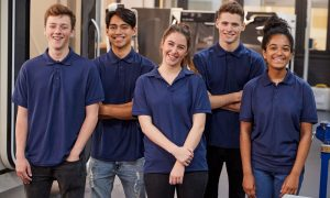 apprentices stock image