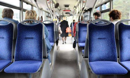 bus interior stock image