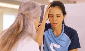 concussion stock image