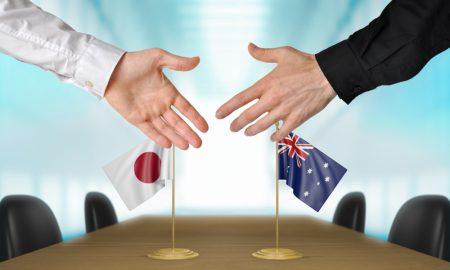Japan Australia stock image