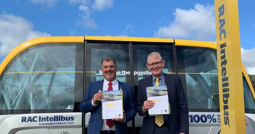 Busselton Mayor Grant Henley, and Patrick Walker of RAC WA