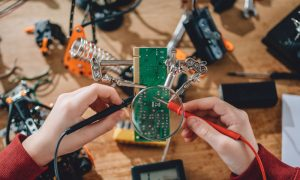 robotics circuits stock image