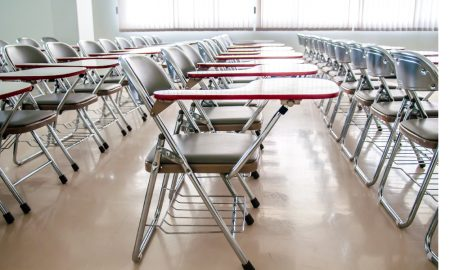 school chairs stock image
