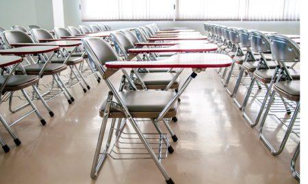 school chairs stock image