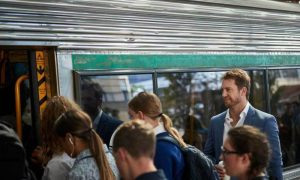 Commuters-boarding-Perth-train-station