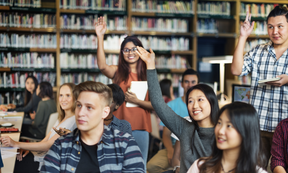 international students stock image