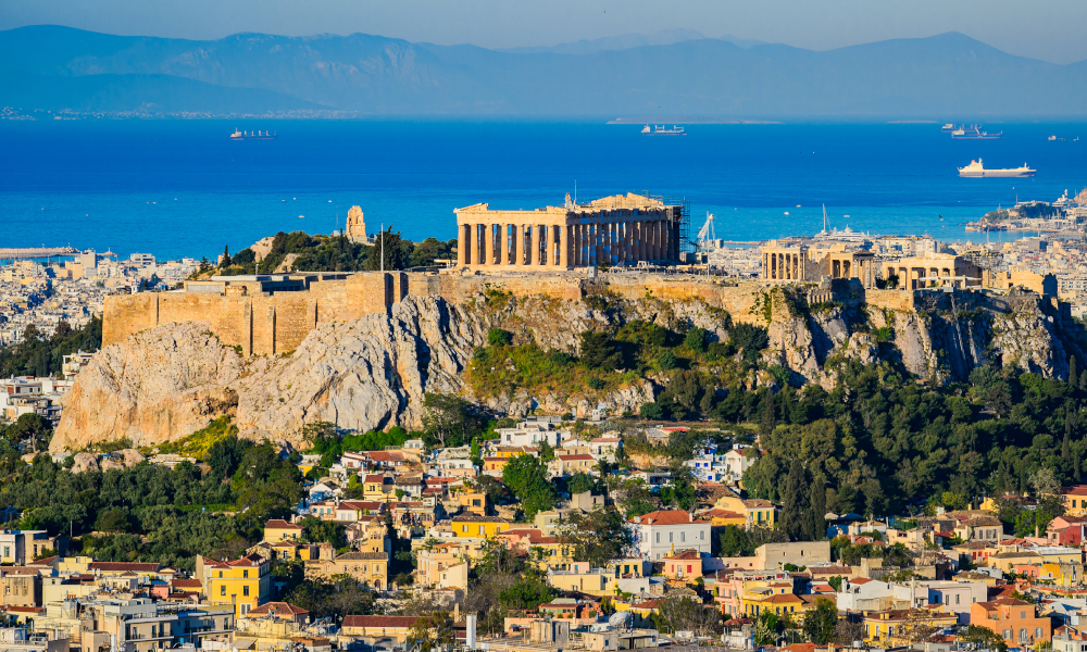 greece acropolis stock image