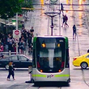 Melbourne-Bourke-Street-tram