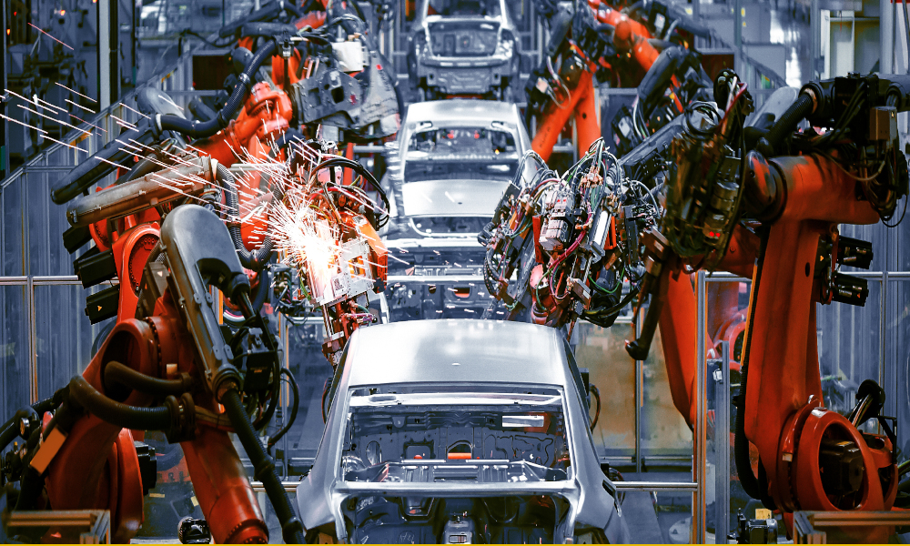 automotive industry stock image