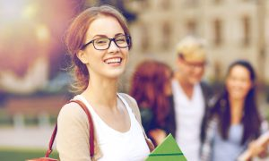 student glasses stock image