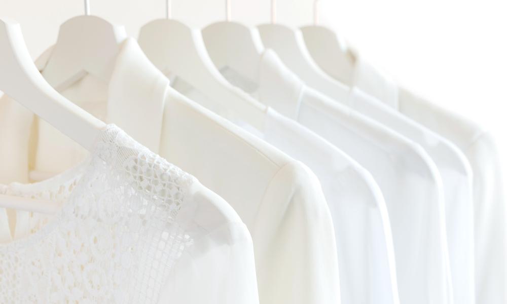 wardrobe hangers women stock image