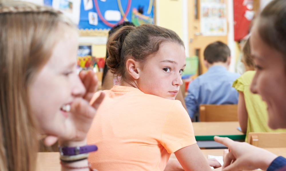 bullying girl child stock image