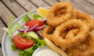 calamari and chips