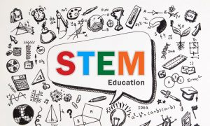 STEM education bubble stock image