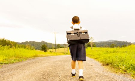 rural student stock image