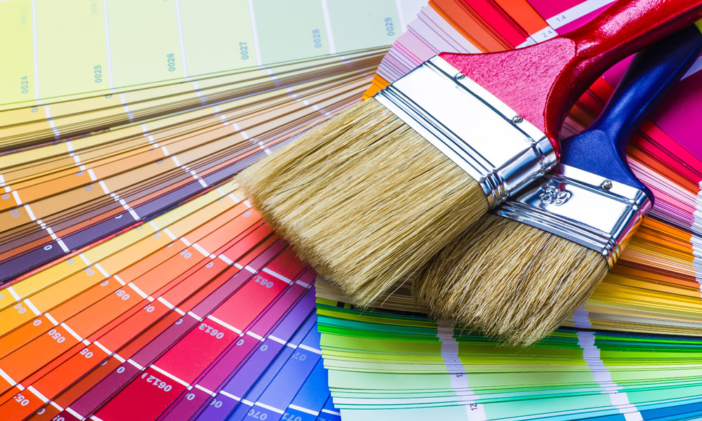 art paint brushes stock image
