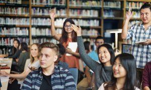 international students stock image