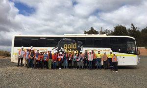 UWA and University of Toronto Lassonde students and teaching staff, and Newmont Goldcorp staff onsite at Newmont Goldcorp's Boddington gold mine.