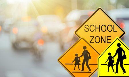school zones stock image