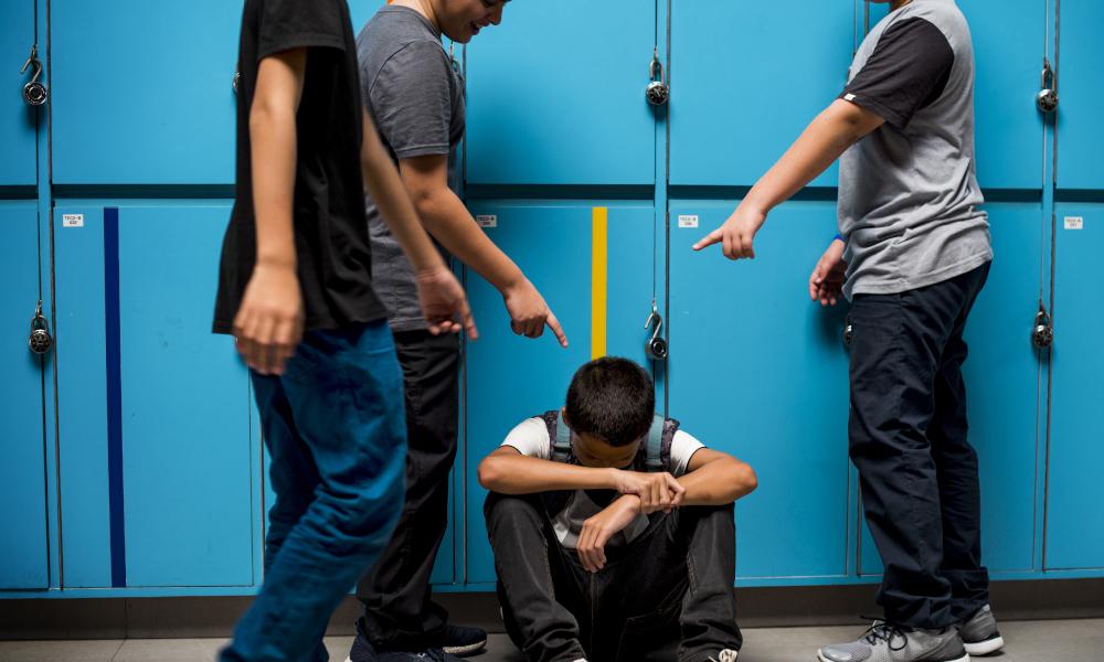 bullying boy stock image