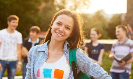 university students stock image