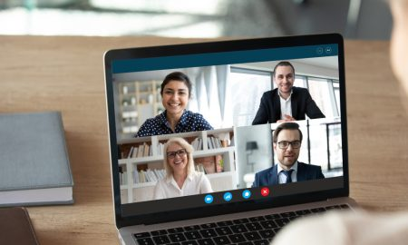 online meeting stock image